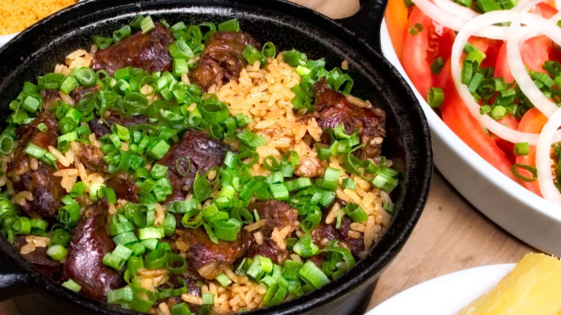 Linguiça de Maracaju com arroz